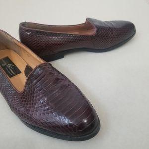 Giorgio Brutini Genuine Snakeskin Loafer Men Sz 9.